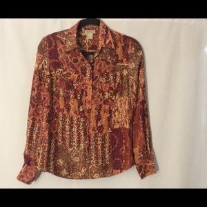 LUCKY BRAND Womens Size Small Blouse 100